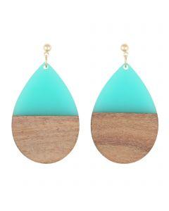 BEAU EARRINGS AQUA - BEAU EARRINGS AQUA - Ebony Boutique NZ