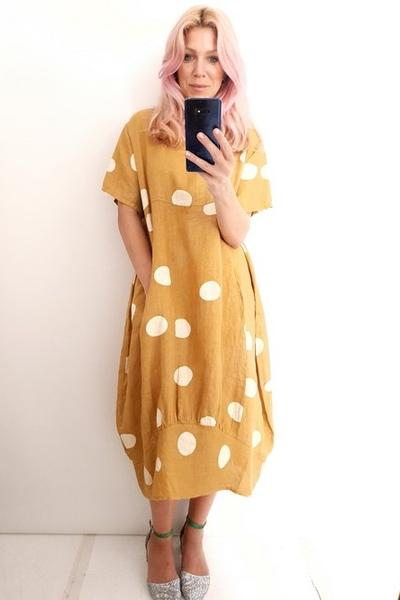 BIG POLKA DOT MID SLEEVE MAXI - BIG POLKA DOT MID SLEEVE MAXI - Ebony Boutique NZ