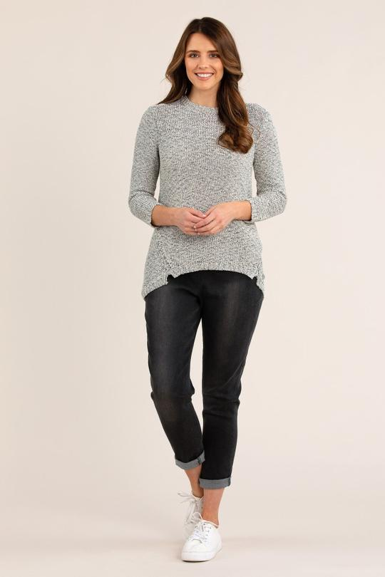 BUTTON BACK JUMPER - No image set - Ebony Boutique NZ