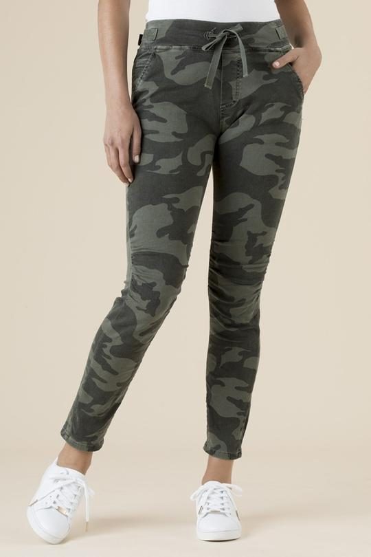CAMOUFLAGE CARGO PANTS - THR36707 - Ebony Boutique NZ