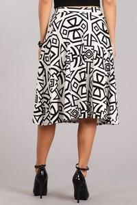 C&C PRINT A LINE FULL SKIRT - No image set - Ebony Boutique NZ