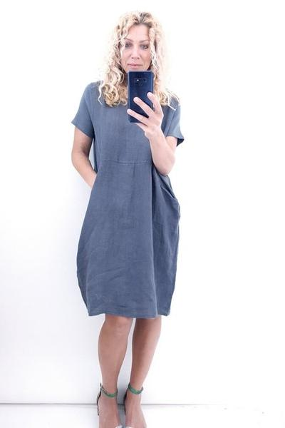 CHARCOAL PLAIN JUNGLE DRESS - CHARCOAL PLAIN JUNGLE DRESS - Ebony Boutique NZ