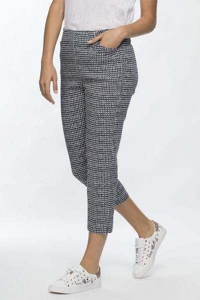 CHECK PRINT PANT - THR32917 - Ebony Boutique NZ