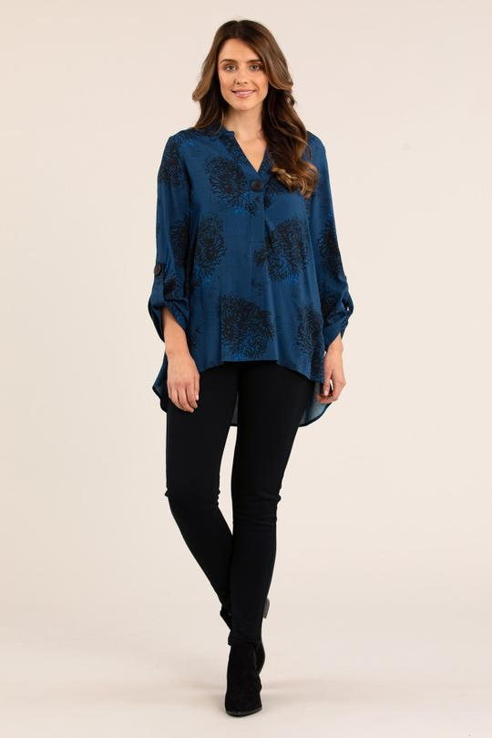 CLUSTER PRINT SHIRT - No image set - Ebony Boutique NZ