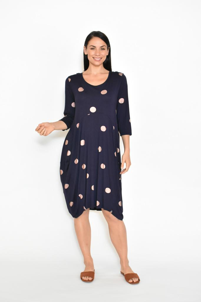 COCOON DRESS 3/4 SLEEVE - No image set - Ebony Boutique NZ