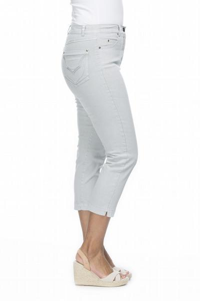 CROP MIRACLE JEAN - GSM104900 in White - Ebony Boutique NZ