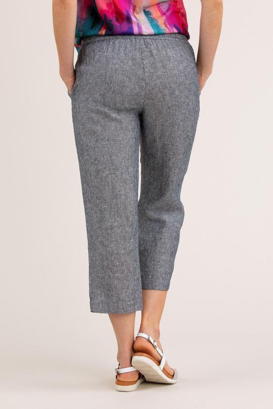 CROPPED LINEN PANT - YT20H8710 - Ebony Boutique NZ