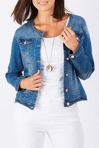 DENIM JACKET - THR16653 - Ebony Boutique NZ