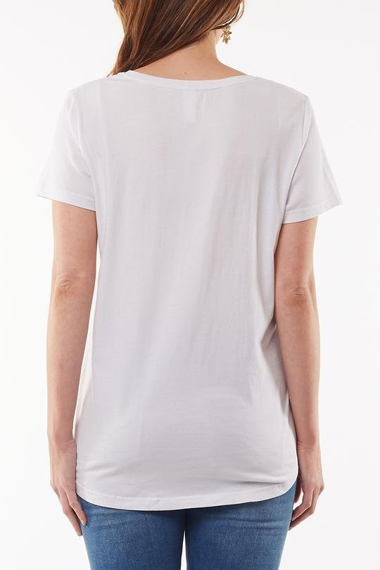 DEVOTION TEE WHITE - ELM8151097 - Ebony Boutique NZ