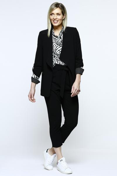DRAPE FRONT JACKET - No image set - Ebony Boutique NZ