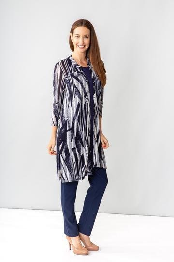 DRY FEEL TUNIC JKT 2PC SET - CSICDJ23078 in Navy - Ebony Boutique NZ