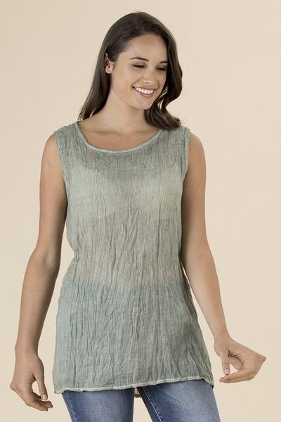 DYED CRUSHED CAMI - THR36452 - Ebony Boutique NZ