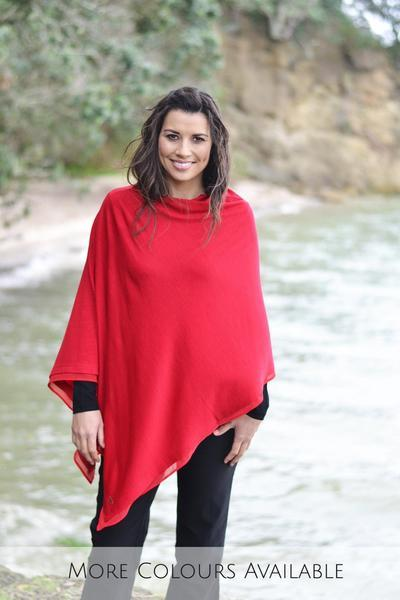 EASY STYLE LAYER PONCHO WITH CHIFFON - EASY STYLE LAYER PONCHO WITH CHIFFON - Ebony Boutique NZ