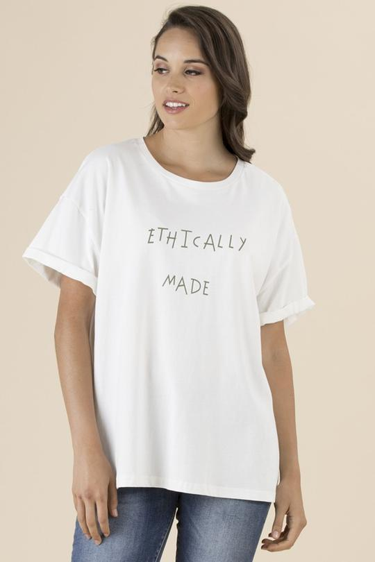 ETHICALLY MADE TEE - THR36539 - Ebony Boutique NZ