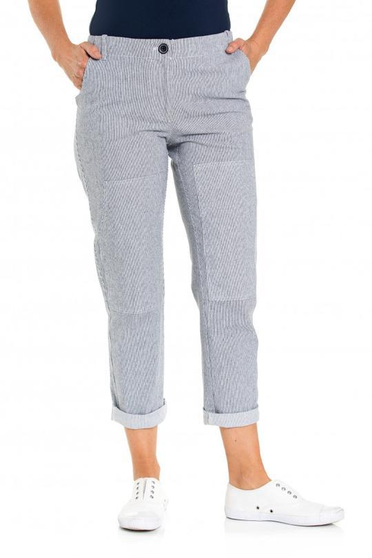 FINE STRIPE PANT - YT19S8637 - Ebony Boutique NZ