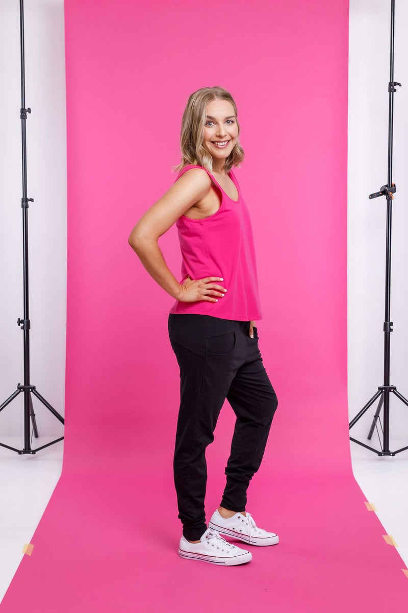 FRANKIE TOP RASPBERRY PINK - Home Lee Frankie Top - Ebony Boutique NZ