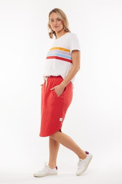 FUNDAMENTAL ISLA SKIRT RED - FUNDAMENTAL ISLA SKIRT RED - Ebony Boutique NZ