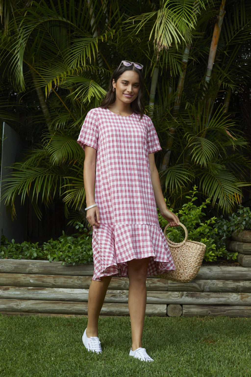 GINGHAM CHECK DRESS - GINGHAM CHECK DRESS - Ebony Boutique NZ