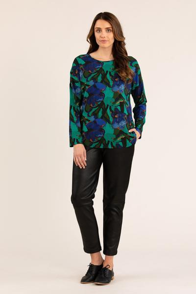 IRIS PRINT TEE - No image set - Ebony Boutique NZ