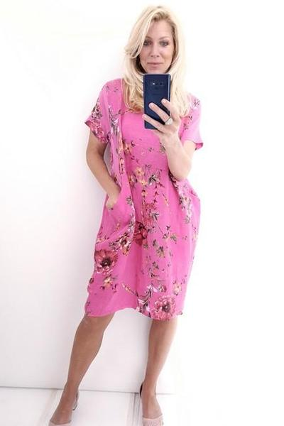 JUNGLE DRESS HOT PINK ELSA BLOSSOM - JUNGLE DRESS HOT PINK ELSA BLOSSOM - Ebony Boutique NZ