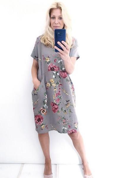 JUNGLE DRESS MOCHA ELSA BLOSSOM - JUNGLE DRESS MOCHA ELSA BLOSSOM - Ebony Boutique NZ