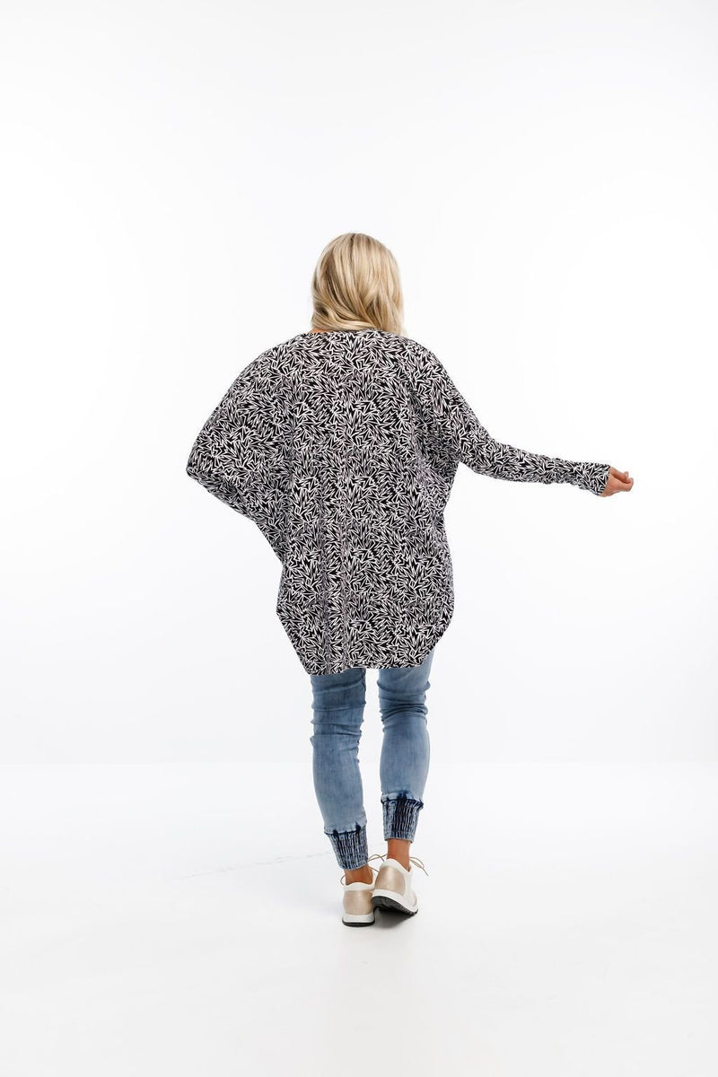 KIMONO LONG SLEEVE PAPER PLANE - No image set - Ebony Boutique NZ