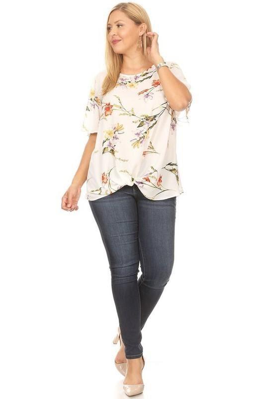 KNOT TOP FLOWER PRINT - KNOT TOP FLOWER PRINT - Ebony Boutique NZ