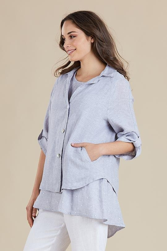 LINEN JACKET - LINEN JACKET - Ebony Boutique NZ