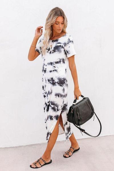 MADDY TEE DRESS WHITE - MADDY TEE DRESS WHITE - Ebony Boutique NZ