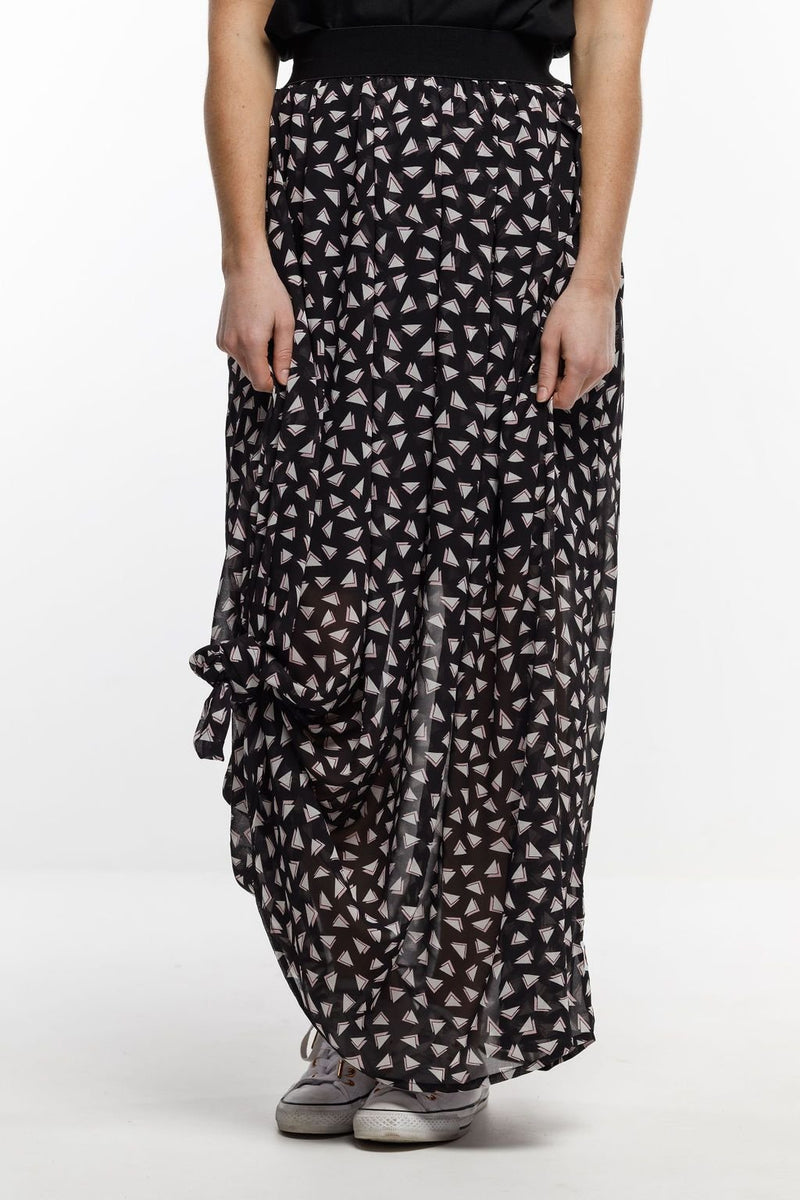 MAXI SKIRT TRIANGLE PRINT - No image set - Ebony Boutique NZ