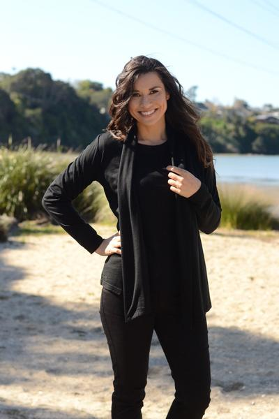 MERINO SHAWL COLLAR CARDIGAN - MERINO SHAWL COLLAR CARDIGAN - Ebony Boutique NZ