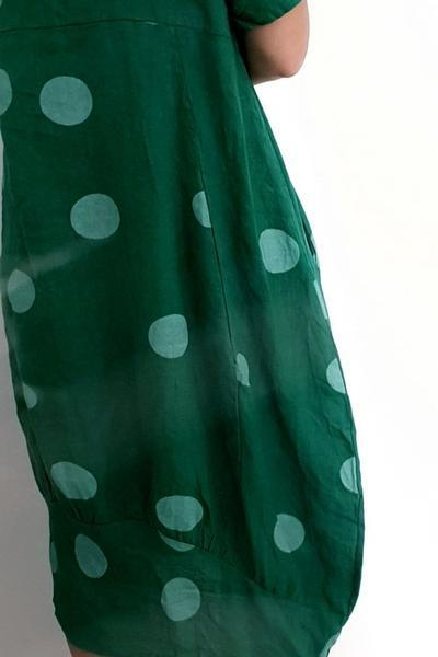 MID SLEEVE MAXI DRESS BIG POLKA DOT - MID SLEEVE MAXI DRESS BIG POLKA DOT - Ebony Boutique NZ