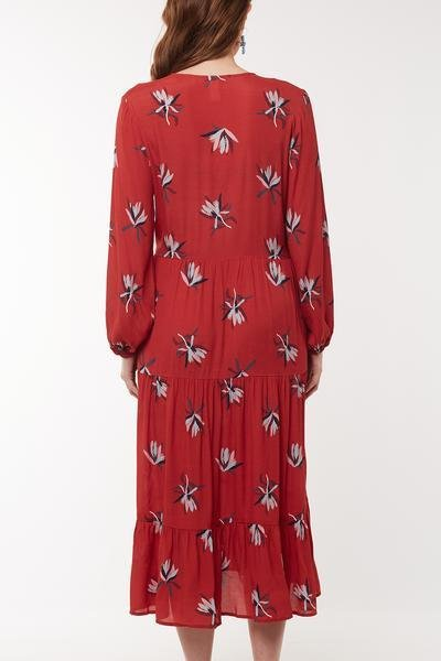 NATIVE FLORA DRESS - NATIVE FLORA DRESS - Ebony Boutique NZ
