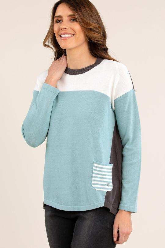 PANELLED JUMPER - No image set - Ebony Boutique NZ