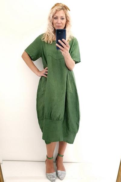 PINE PLAIN SLEEVE MAXI DRESS - PINE PLAIN SLEEVE MAXI DRESS - Ebony Boutique NZ
