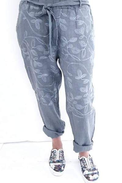 POMMAC PANTS GREY - POMMAC PANTS GREY - Ebony Boutique NZ