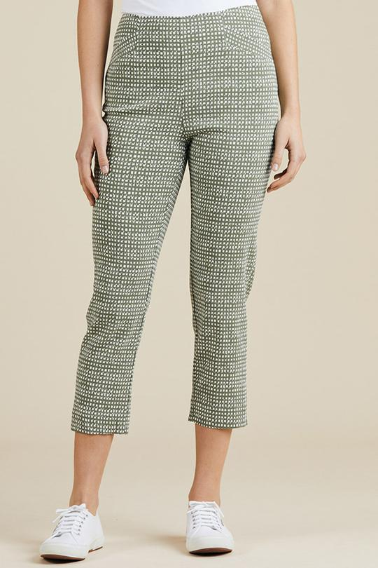 PRINTED CROPPED PANT - GSM37047 - Ebony Boutique NZ