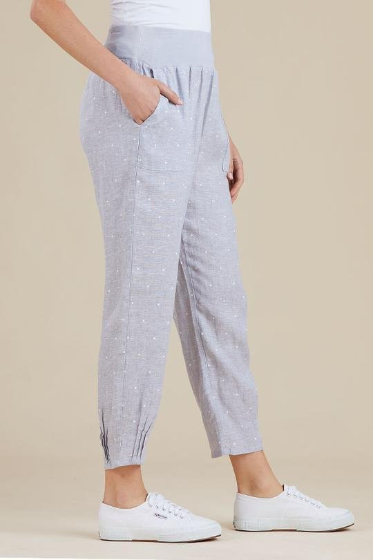 PULL ON LINEN PANTS - PULL ON LINEN PANTS - Ebony Boutique NZ