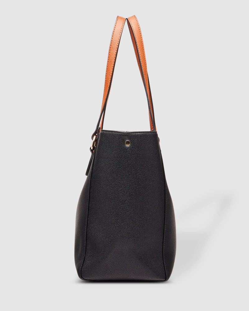 RACHEL TOTE BAG BLACK - RACHEL TOTE BAG BLACK - Ebony Boutique NZ