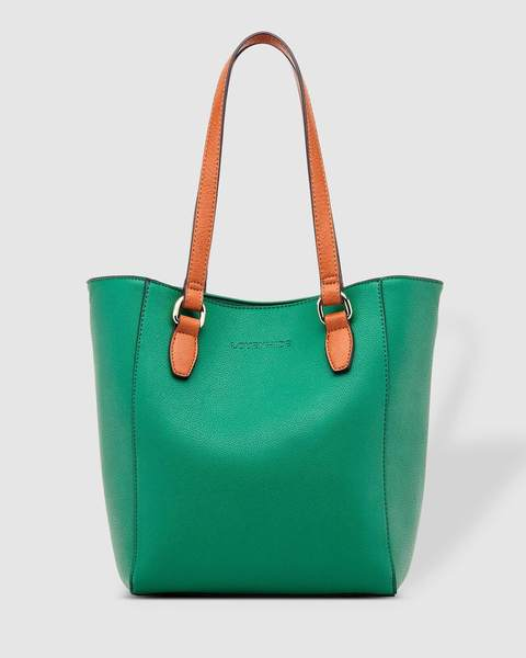 RACHEL TOTE BAG GREEN - RACHEL TOTE BAG GREEN - Ebony Boutique NZ