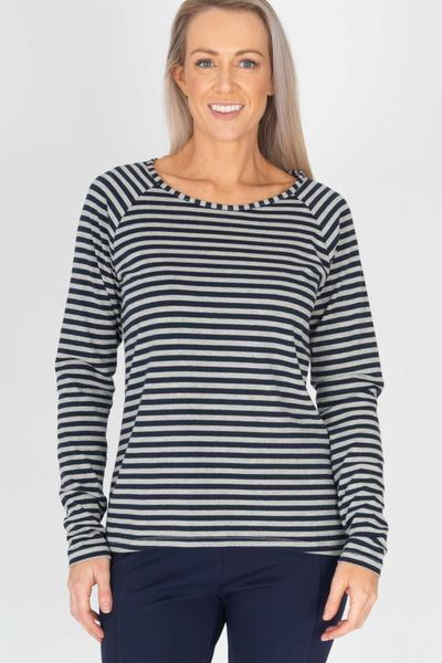 RAGLAN STRIPE TOP - No image set - Ebony Boutique NZ