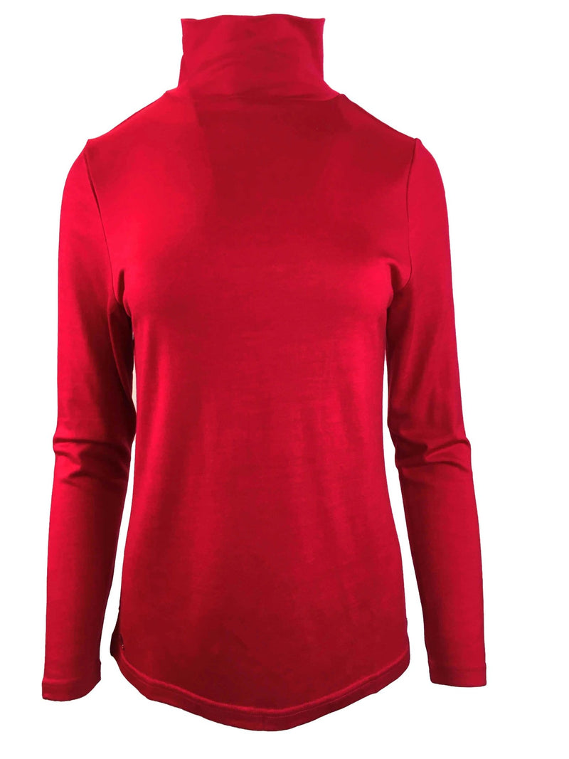 ROLL NECK JUMPER - EBAS515 in Ruby - Ebony Boutique NZ