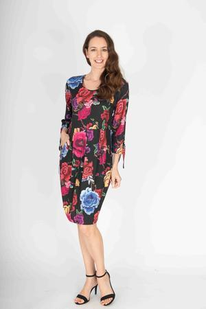 RONEN PRINT DRESS - CSKCD245435 - Ebony Boutique NZ