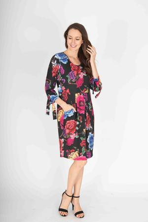 RONEN PRINT DRESS - No image set - Ebony Boutique NZ