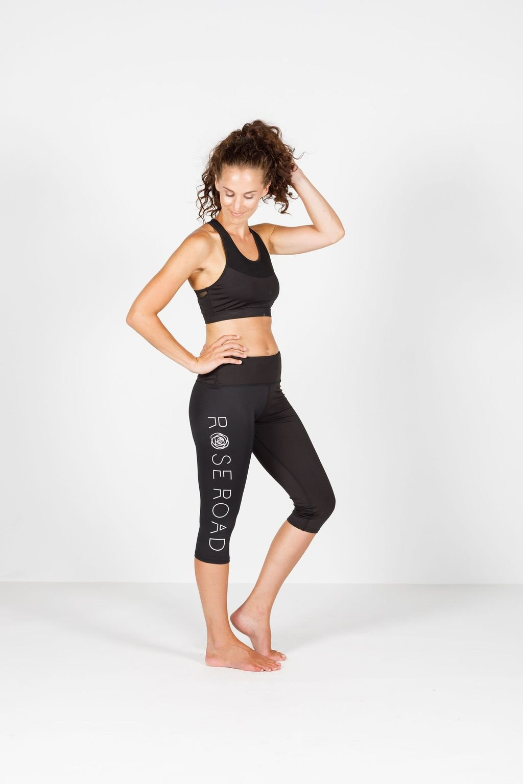 ROSE ROAD 3/4 LOGO LEGGING - No image set - Ebony Boutique NZ