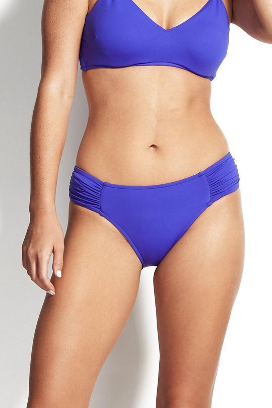 RUCHED SIDE RETRO BIKINI PANT - SF40145 065 - Ebony Boutique NZ