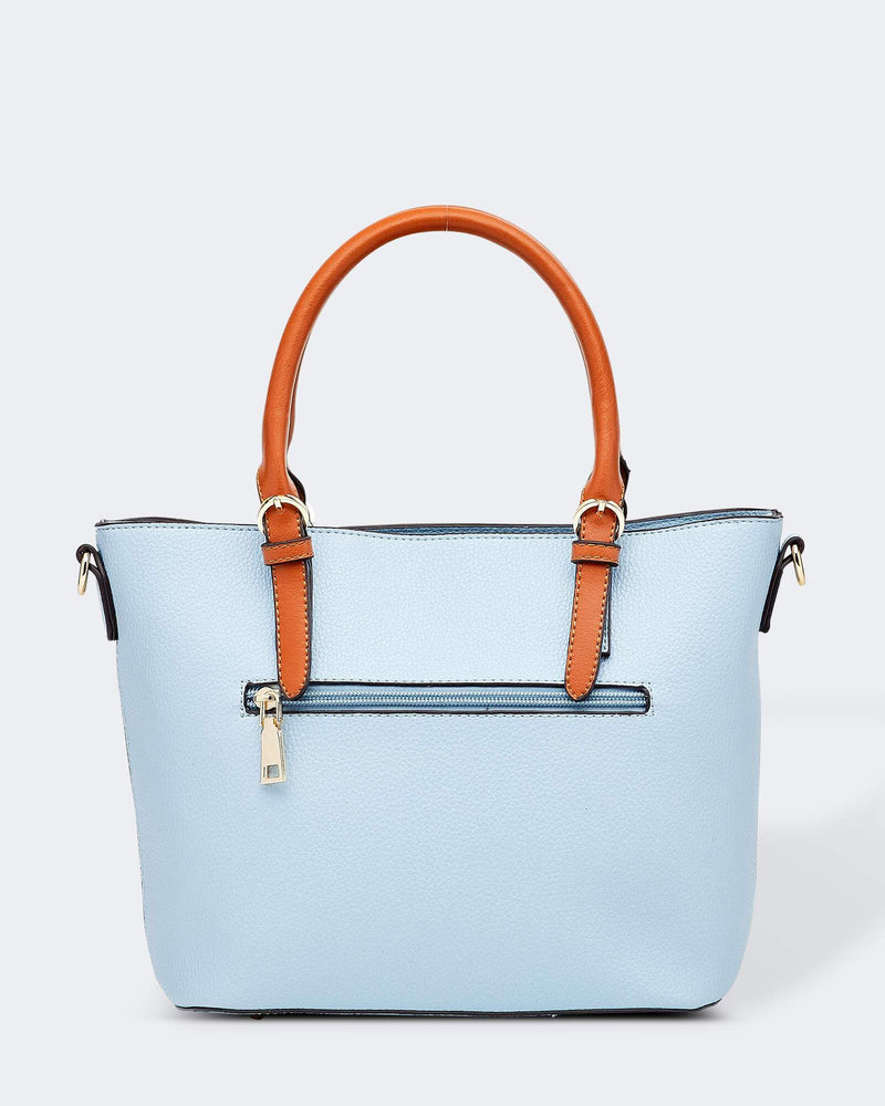 RUMER BLUE PU BAG - RUMER BLUE PU BAG - Ebony Boutique NZ