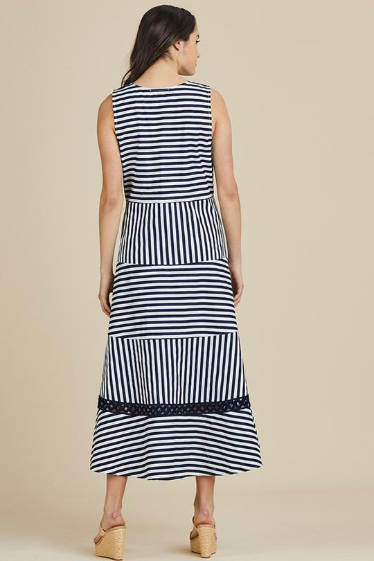 SAILOR STRIPE DRESS - HV37280 - Ebony Boutique NZ