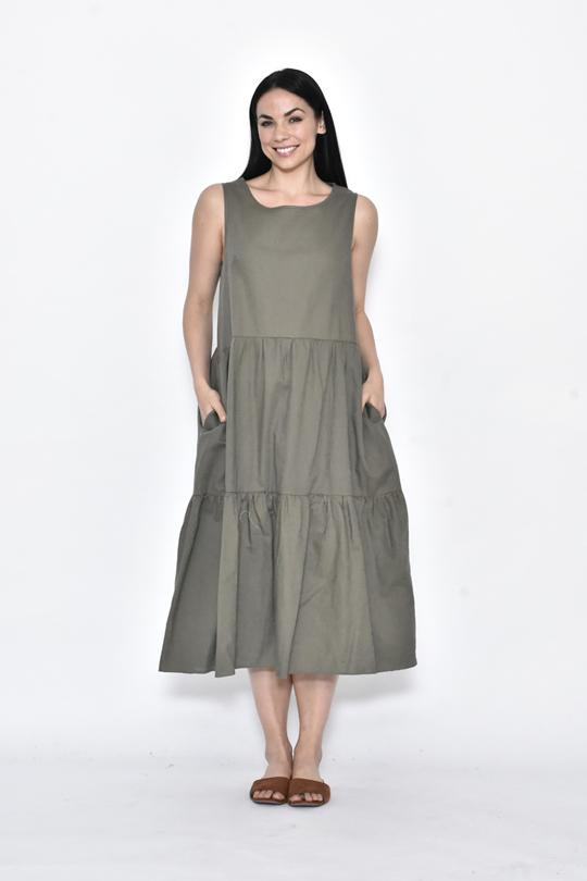 SIDE POCKET LINEN MAXI DRESS - No image set - Ebony Boutique NZ