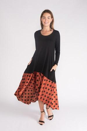 SPOT TRIM DRESS - SPOT TRIM DRESS - Ebony Boutique NZ